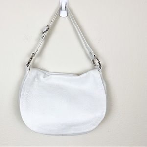 Coach Ali Flap Pebbled Leather Off White Hobo
